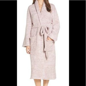 Barefoot Dreams Cozy Chic robe vintage rose pink